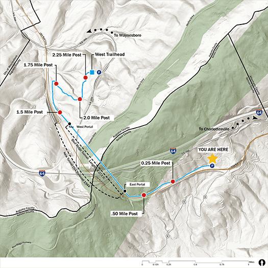 Trail Map East Trailhead