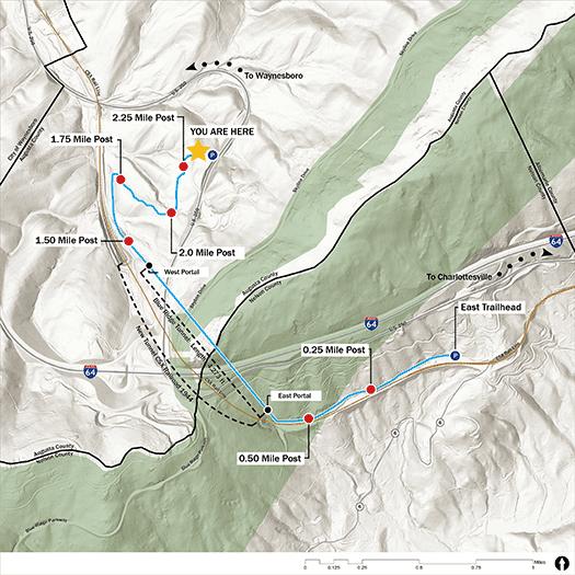 Tunnel Map West Trailhead